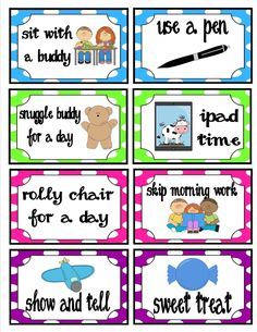 Classroom Behavior Ticket Template | ... behavior tickets instead of always using candy or a treasure box. So I
