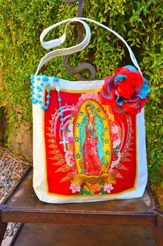 Virgen de Guadalupe Applique Tote by OliviabyDesign on Etsy, $15.00