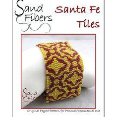 Peyote Pattern  Santa Fe Tiles Peyote Cuff / by SandFibers on Etsy
