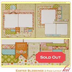 "PaisleysandPolkaDots.com ""Easter Blessings"" - Scrapbook Layout Kit - $16.00"