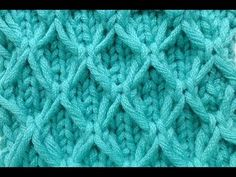 ▶ Knit with eliZZZa * Mesh pattern with Slip Stitches * Knitting Stitch - YouTube