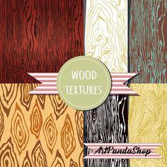 Wood Digital Paper Wood Papers Wood Vector Texture Scrapbook