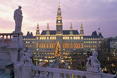 Vienna in the winter! Christmas markets, coffee houses, mulled wine sold on street corners, open-air ice rinks! I could go on and on......