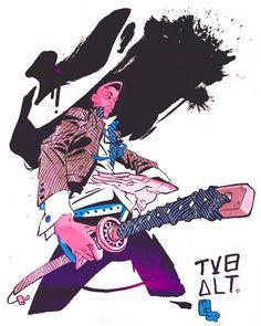 Vertigo plans deluxe Death, new Ronald Wimberly OGN in late 2012 - Robot 6 @ Comic Book Resources Character Concept, Character Art, Concept Art, Illustrations, Illustration Art, Gurren Laggan, Samurai Art, Urban Samurai, Black Anime Characters