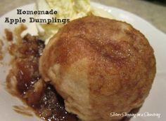 apple dumpling recipe, homemade apple dumplings