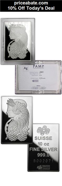 10% Off PAMP Suisse 10 Troy Oz .999 Silver Bar - Fortuna w/ Assay Certificate SKU29047 - eBay Daily Deal! - #priceabate! BUY IT NOW ONLY $243.40