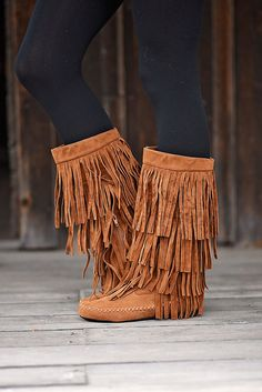 Rust Fringe Boots – The Pulse Boutique