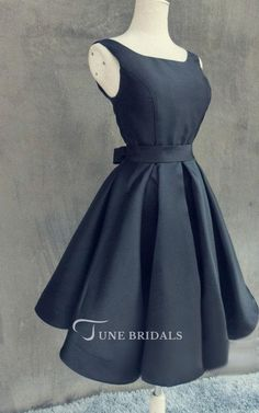 Shop affordable Mini A-line Satin Dress With Open Back at June Bridals! Over 8000 Chic wedding, bridesmaid, prom dresses & more are on hot sale. Grad Dresses, Satin Dresses, Bridesmaid Dresses, Summer Dresses, Retro Fashion, Korean Fashion, Womens Fashion, Retro Outfits, Chic Wedding