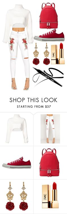 """""""❤️❤️❤️"""" by alisoon02 on Polyvore featuring moda, Alexandre Vauthier, WearAll, MICHAEL Michael Kors, Dolce&Gabbana, Yves Saint Laurent y outfit"""