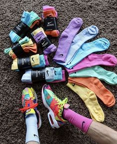 Nike Socks Hand Dyed for Sale in Humble, TX - OfferUp - Nike Socks Hand Dyed Source by das_glueckskind - Teen Fashion Outfits, Nike Outfits, Fitness Outfits, Tie Dye Socks, Estilo Cool, Cute Lazy Outfits, Aesthetic Shoes, Nike Elite Socks, Hype Shoes