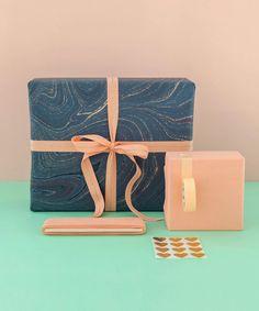 Gift Wrap Bundle Blue Marble
