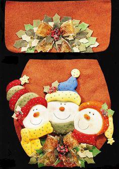 Marcela Rodríguez Accesorios: Navidad - Juegos de Baño Christmas Sewing, Christmas Fabric, Christmas 2016, Christmas Time, Christmas Stockings, Christmas Crafts, Merry Christmas, Christmas Decorations, Christmas Ornaments