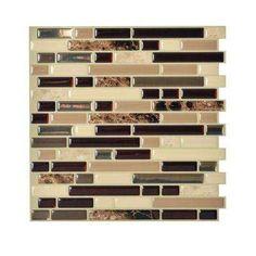 Decorative Wall Tiles For Kitchen Backsplash Smart Tiles 1020 Inx 910 Inpeel And Stick Mosaic Decorative