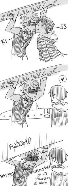 re-pinned Durarara>Shizuo + Izaya fan fiction: Izaya is always trying to annoy Shizuo.
