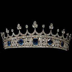 Queen Victoria's Sapphire and Diamond Tiara Diamond designed by Prince Albert for Queen Victoria
