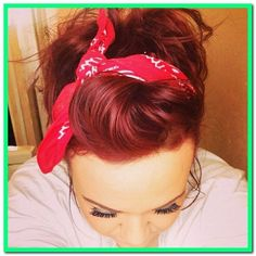 17 Fascinating Victory Rolls Hairstyles: The Modern Take At The Vintage Trend, Victory Rolls Updo, Victory Roll Hair, Rockabilly Hair, Rockabilly Fashion, Rockabilly Style, Roll Hairstyle, Bandana Hairstyles, Vintage Hairstyles Tutorial, Up Hairdos