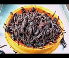 Deep fried Tarantula from Cambodia anyone? Gross Food, Weird Food, Cambodian Food, Global Business, Exotic Food, Survival Food, World Recipes, Everyday Food, Different Recipes