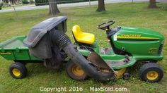John Deere Lawn Mower Tractor Sold on MaxSold for $1300