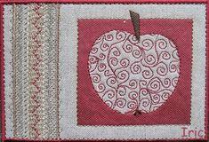 Apple Fabric Post Card