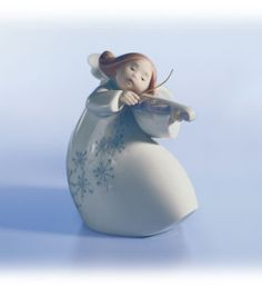 LITTLE ANGEL WITH VIOLIN | Jose Puche, 1998 | Retired 2005 | 4 3/4 x 4 1/4 | 01006529  (N)