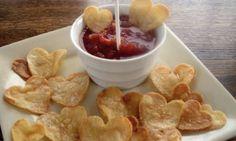 valentijnchips met salsa |