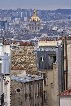 View from Montmartre of Les Invalides, Paris (Rita Crane Photography)