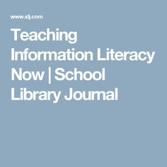 Laura Gardner, 2016 SLJ School Librarian of the Year finalist, updates her lesson plans for the era of fake news. What Is Information, Information Literacy, Library Lessons, Library Ideas, Teacher Librarian, Media Literacy, Digital Citizenship, I School, Student Learning