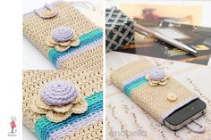Smart phone crochet cover