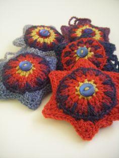 Crochet stars. Jamiesons of Shetland DK yarn