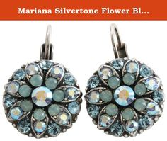 Mariana Silvertone Flower Blossom Crystal Earrings, Pacific Blue 1029 26770. About Mariana Jewelry: Mariana believes what music is to the ear, color is to the eye. Her exquisite creations make the woman who wears them glow with confidence and love for life. Since 1997, her exuberant sense of color and unexpected fusion of old and new, crystal and stone, material and spirit, have been the very heart and soul of her creative vision. Mariana jewelry is made with components as varied as the...