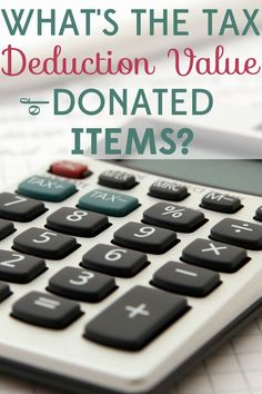 If you've donated items you might as well get a tax deduction! Find out how to determine the Fair Market Value of your donations. Ways To Save Money, Money Tips, Money Saving Tips, Saving Ideas, Sinking Funds, Tax Deductions, Financial Tips, Financial Planning, Frugal Tips