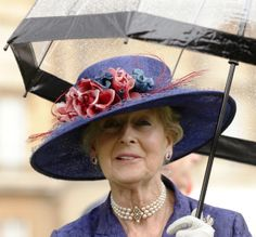 Princess Alexandra attends a garden party held at Buckingham Palace on June 3, 2013 in London, England