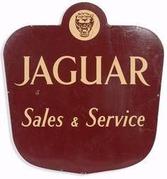 Jaguar Sales & Service Porcelain Sign
