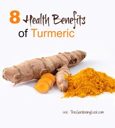 8 health benefits of turmeric and 10 ways to add it to your diet.  http://thegardeningcook.com/8-health-benefits-of-turmeric/