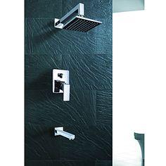 Wall Mount Contemporary Chrome Rain Shower Faucet – USD $ 139.99