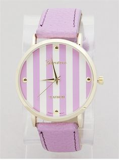 P.S. I Love You More Boutique | Lavender Stripes Watch | Spring Summer Fashion 2014 www.psiloveyoumoreboutique.com