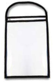 """Repair Order/Work Ticket Holders Clear with Black Handle. These reusable protectors will keep your repair orders clean and neat throughout the job. All have convenient loop handle to hang from the antenna or any mirror. •11"""" x 13"""" •Clear/Black •Sturdy sewn cloth and plastic •Top load •Packaged 25 holders per box"""