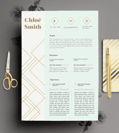 Creative Resume Template Editable in MS Word and by CvDesignCo. Instant download on Etsy.