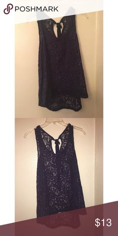 Navy Blue Lace Tank Size Large Forever 21 Tops Tank Tops