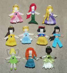 You pick 3 Disney Princess Hair Clips by myPrettyBowPeeps on Etsy