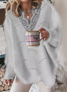 Lace Sweater, Yellow Sweater, Grey Sweater, White Sweaters, Sweaters For Women, Online Shopping, Pullover, White V Necks, Printed Sweatshirts