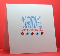 thank you card w red, white & blue