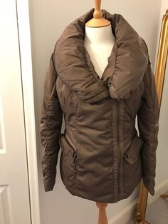 Next Womens Taupe Puffa Jacket Roll Neckline With Concealed Hood Size 12 Taupe Color, Fashion Clothes, Size 12, Winter Jackets, Neckline, Style Inspiration, Clothes For Women, Lady, Coats