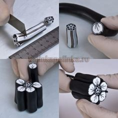 Flower cane tutorial