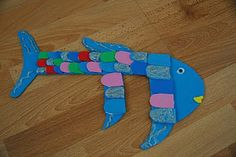 """Could read the story """"Rainbow fish"""" and make craft...a little to involved, but cute none the less...Letter F: Fish"""