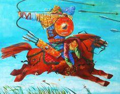 Dmitry Timofeev - El Rapto de la Novia Views Album, Rooster, Gallery, Painting, Animals, Figurative, Weddings, Grooms, Art