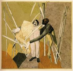 """archives-dada: """"Hannah Höch, Liebe in busch (Love in the bush), Photomontage with collage on paper laid down on card Image: 8 by 9 ¼ in. Collages, Collage Artists, Hannah Hoch Collage, Hannah Höch, Dada Artists, Surrealist Collage, Surrealism Art, Francis Picabia, Collage Art Mixed Media"""