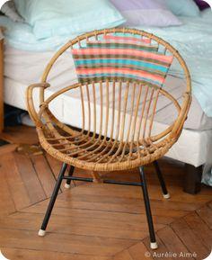 Aurélie Aimé: Un fauteuil rotin aux allures Navajo