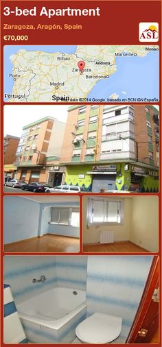 3-bed Apartment in Zaragoza, Aragón, Spain ►€70,000 #PropertyForSaleInSpain