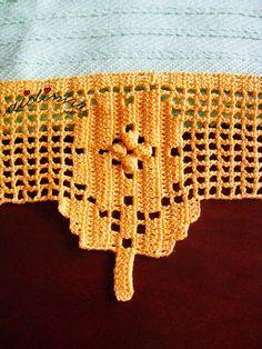 Foto da flor desta renda de crochet